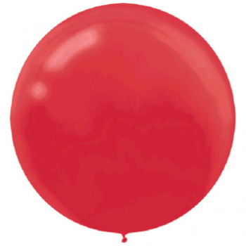 "Picture of 24"" LATEX BALLOONS - RED 4CT"