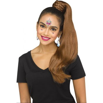 Picture of WIG BRAIDED PONYTAIL - BROWN
