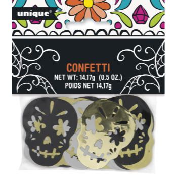 Picture of DAY OF THE DAY METALLIC SKULL CONFETTI