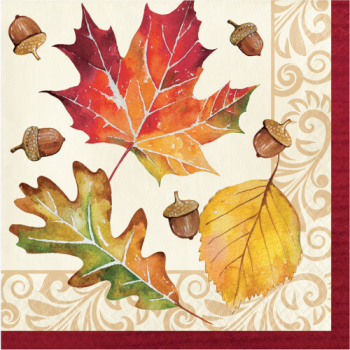 Picture of FALLEN LEAVES LUNCHEON NAPKINS