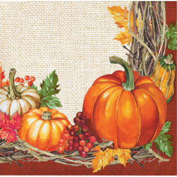 Picture of PLENTIFUL HARVEST BEVERAGE NAPKINS