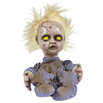 Picture of CREEPY DOLL BLONDE HAIR ANIMATED 11""