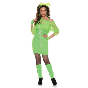Image de 80'S NEON DRESS - NEON GREEN -  ADULT LARGE