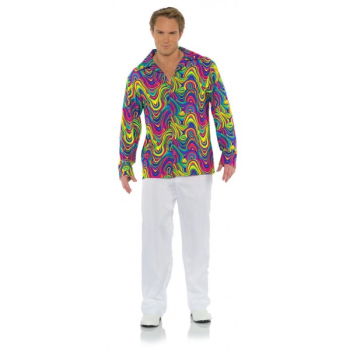 Image de 70'S BLACK LIGHT SHIRT - ADULT XLARGE