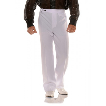 Image de 70'S DISCO PANTS - WHITE ADULT STANDARD