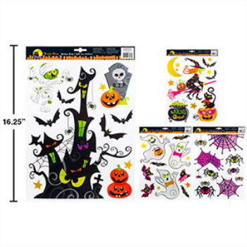 Picture of HALLOWEEN WINDOW CLINGS