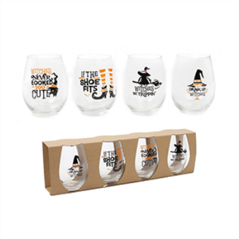 Picture of HALLOWEEN STEMLESS WINE GLASSES