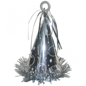 Picture of PARTY HAT BALLOON WEIGHT - SILVER