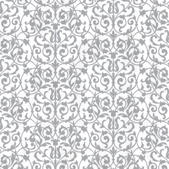 Picture of PRINTED TISSUE PAPER - BROCADE SILVER