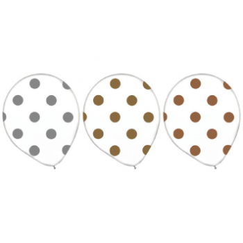 Picture of 12'' DOTS - CLEAR GOLD AND SILVER