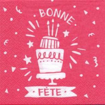 Picture of BONNE FETE - PINK LUNCHEON NAPKINS