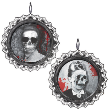 Picture of SKULL PORTRAIT METAL SIGN