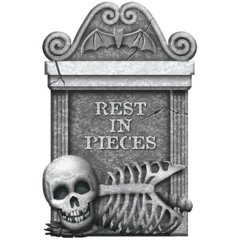 Picture of REST IN PIECES FOAM TOMBSTONE
