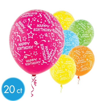 "Picture of 12"" HAPPY BIRTHDAY CONFETTI - BRIGHT COLORS"
