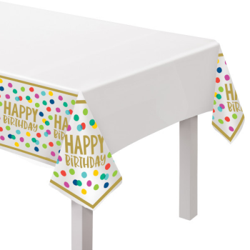 Picture of TABLEWARE - HAPPY DOTS TABLE COVER