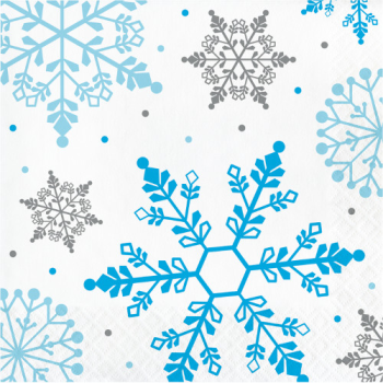 Picture of TABLEWARE - WINTER SNOWFLAKE LUNCHEON NAPKINS