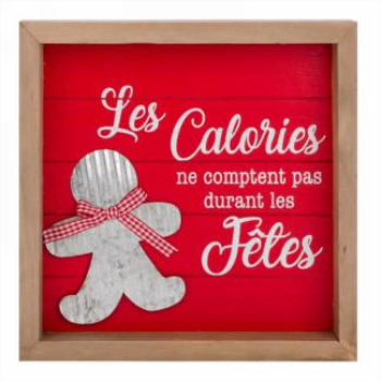 Image de DECOR - LES CALORIES NE COMPTENT PAS...WALL DECOR