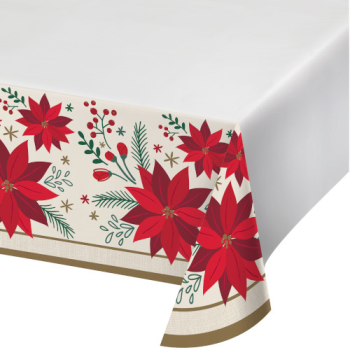 Image de TABLEWARE - MODERN POINSETTIA TABLE COVER