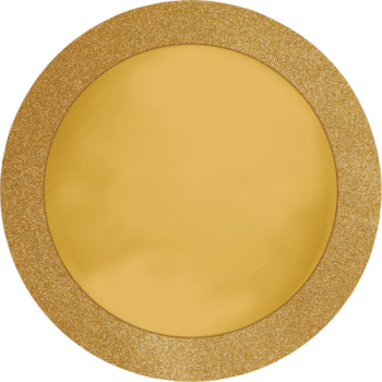 Image de TABLEWARE - GOLD PLACEMAT WITH GLITTER BORDER