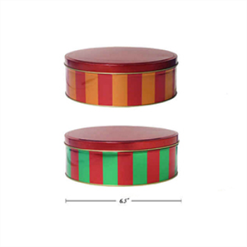 Image de TABLEWARE - BAKING - STRIPE METALLIC COOKIE TIN