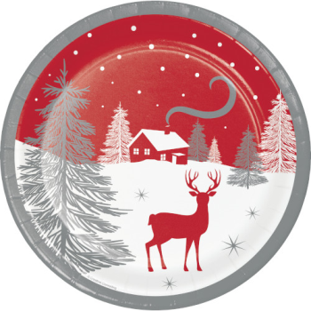 "Image de TABLEWARE - WINTER WONDER 9"" PLATES"