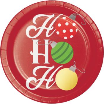 """Image de TABLEWARE - HO HO HO 7"""" FOIL PLATES"""
