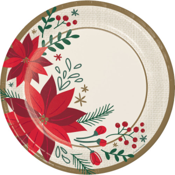 "Picture of TABLEWARE - MODERN POINSETTIA 10"" PLATES"