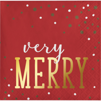 Image de TABLEWARE - VERY MERRY BEVERAGE NAPKINS