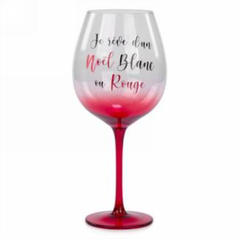 Image de DECOR - WINE GLASS - NOËL BLANC OU ROUGE