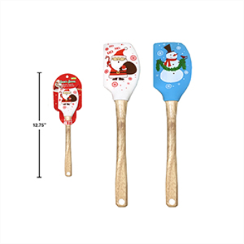 Image de TABLEWARE - BAKING - SILICONE CHRISTMAS SPATULA  WITH WOODEN HANDLE