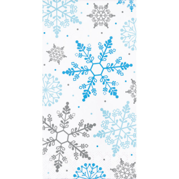 Picture of TABLEWARE - WINTER SNOWFLAKE GUEST TOWELS