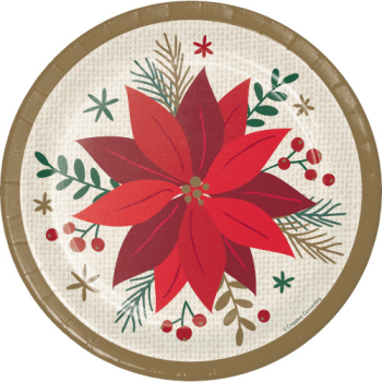 "Picture of TABLEWARE - MODERN POINSETTIA 7"" PLATES"