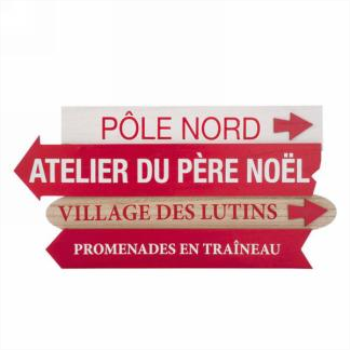 Image de DECOR - POLE NORD...ATELIER DU PÈRE NOËL WALL PLAQUE
