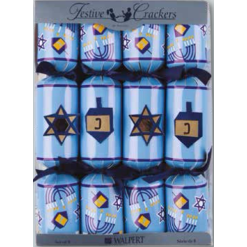 Picture of DECOR - HAPPY HANUKKAH CRACKERS 10""