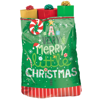 Image de DECOR - GIFT BAG - VERY MERRY GIANT PLASTIC GIFT SACK