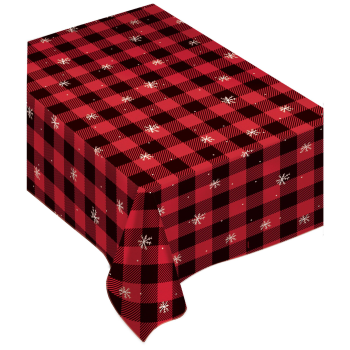 "Image de TABLEWARE - CHRISTMAS BUFFALO PLAID FLANNEL TABLE COVER - 52"" x 90"""