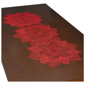 Image de TABLEWARE - VINYL POINSETTIA TABLE RUNNER