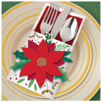 Image de TABLEWARE - CUTLERY HOLDER POINSETTIA