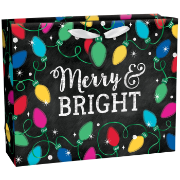 Image de DECOR - GIFT BAG - EXTRA LARGE HORIZONTAL GIFT BAG - TWINKLE LIGHTS