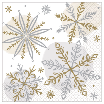 Image de TABLEWARE - SHINING SNOW BEVERAGE NAPKIN