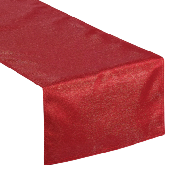 "Image de TABLEWARE - RED TABLE RUNNER - 13"" X 72"""