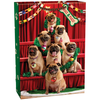 Image de DECOR -  GIFT BAG - PUG TREE XLARGE BAG