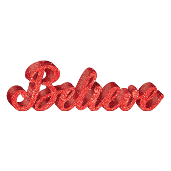 Image de DECOR - GLITTER BELIEVE STANDING SIGN