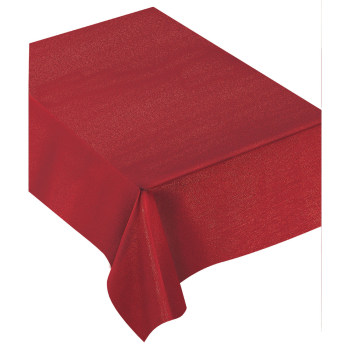 "Image de TABLEWARE - RED METALLIC  FABRIC TABLE COVER - 60"" X 104"""