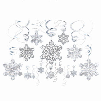 Picture of DECOR - SNOWFLAKE MEGA VALUE SWIRLS