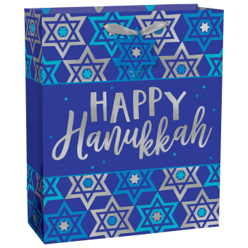 Picture of DECOR - HAPPY HANUKKAH LARGE GIFT BAG