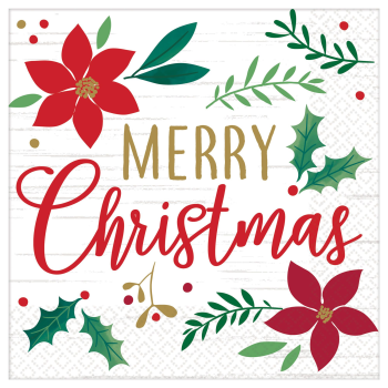 Image de TABLEWARE - CHRISTMAS WISHES - MERRY CHRISTMAS LUNCHEON NAPKIN