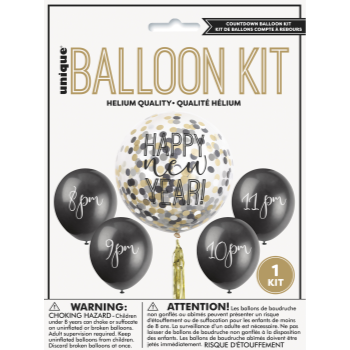 Picture of BALLOONS - NEW YEAR'S COUNTDOWN BALLOON KIT