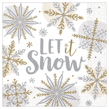 Image de TABLEWARE - SHINNING SNOW LUNCHEON NAPKIN