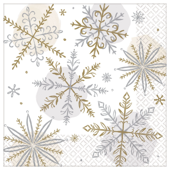 Image de TABLEWARE - SHINING SNOW DINNER NAPKIN
